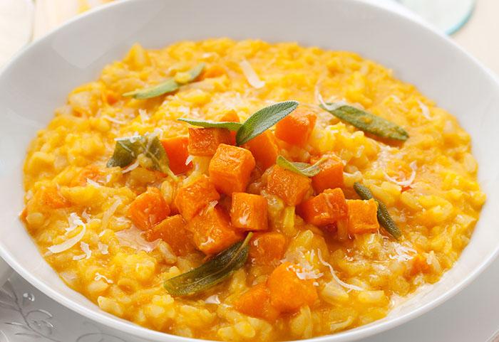 recette italienne, risotto potiron