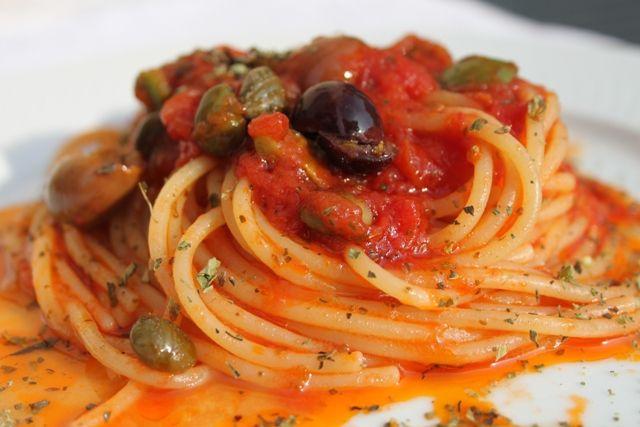 recette italienne, spaghetti mariniere