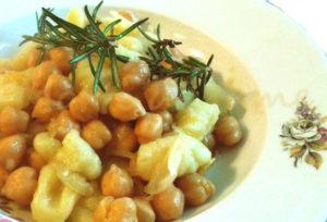 recette italienne, gnocchi et pois chiches