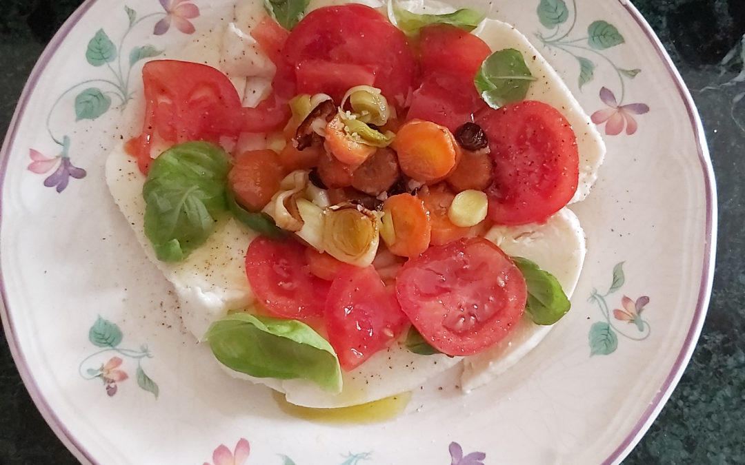 recette italienne, salade caprese