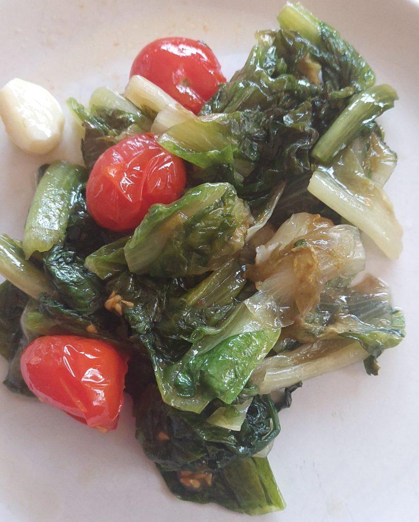 recette italienne, scarole sautee